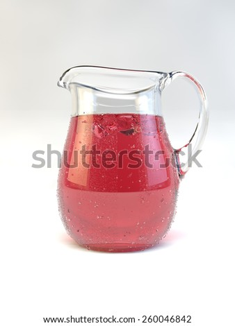 A Jug full of a punch beverage - stock photo