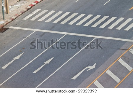 a junction without car - stock photo