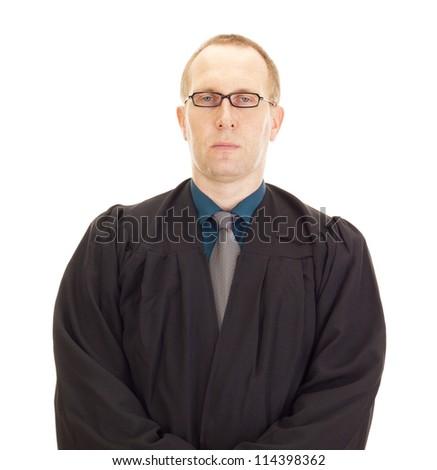 A jurist in his black robe - stock photo
