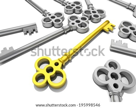 a key business concept  - stock photo