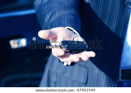 a key to new car for business in europe-2 - stock photo