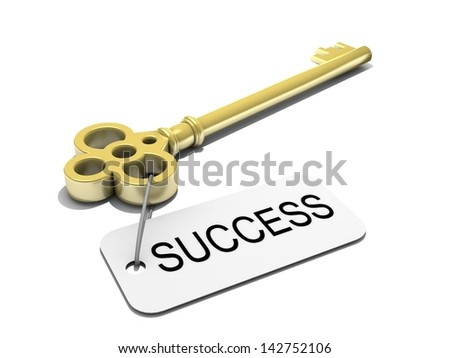 """a key with word """"success"""" , business concept - stock photo"""