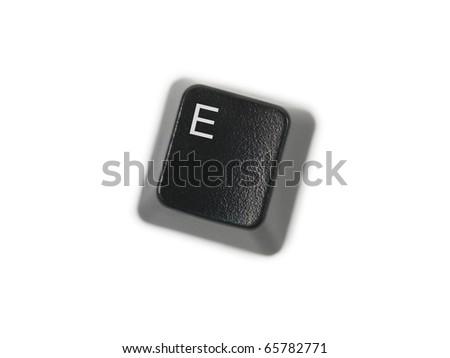 A keyboard key isolated against a white background