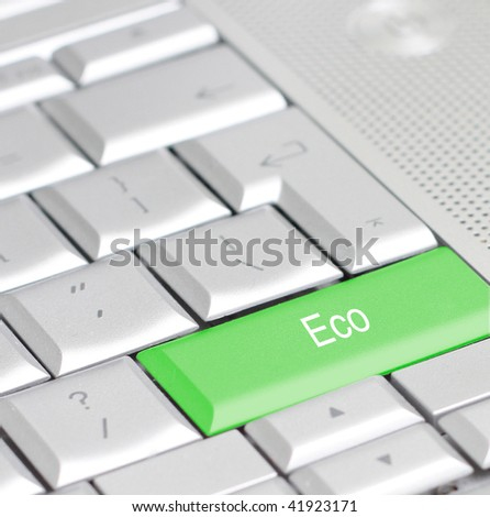 A keyboard with an eco option