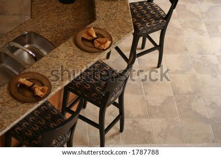 A kitchen bar. - stock photo