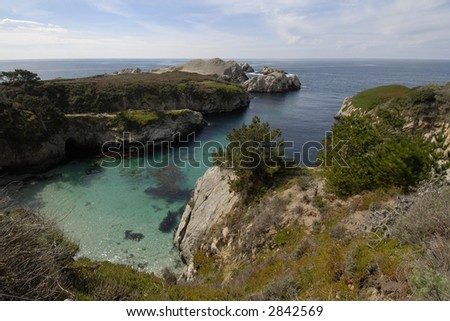 A lagoon on the south side of Pt. Lobos on the Big Sur Coast near Carmel, California