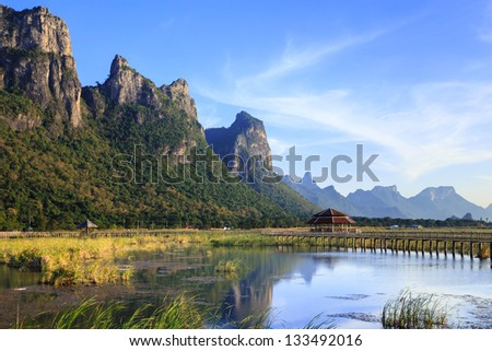 A lake at Sam Roi Yod National Park, Prachuap Khiri Khan, Thailand