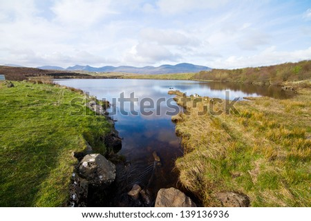 a lake in Scotland - stock photo
