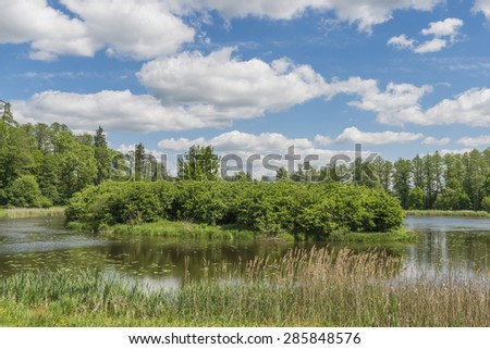 A lake in the park, Bialowieza, Poland