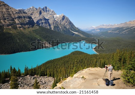 a landscape photographer in the canadian rockies, Banff national park
