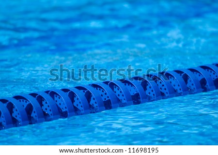 A lane marker for a swimming pool swim race - stock photo
