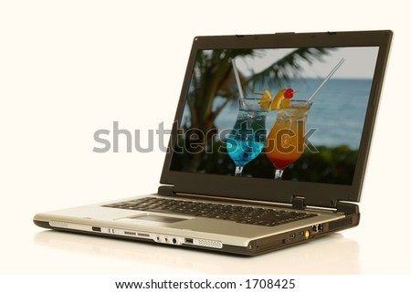 a laptop computer - stock photo