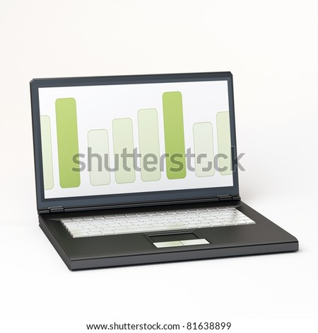 A laptop computer isolated