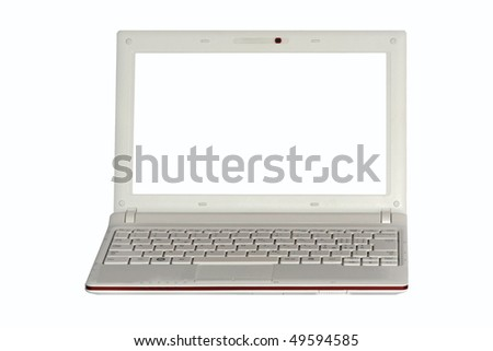 a laptop isolated - stock photo