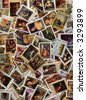 A large collection of old/obsolete Soviet postal stamps. - stock photo