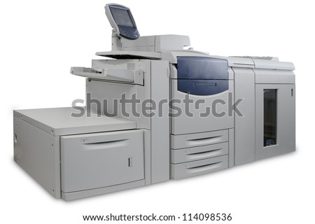 A large digital high volume printer - stock photo