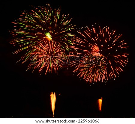 A large Fireworks Display event.  - stock photo