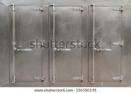A large freezer for industrial or commercial kitchens. - stock photo