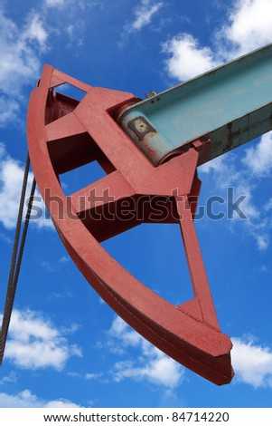 A large portion of the oil pump - stock photo