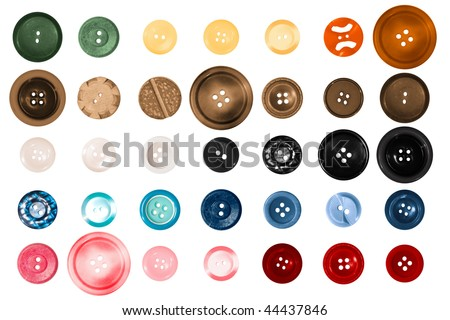a large variety of different colored buttons - stock photo