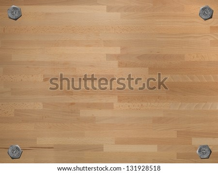A large wooden bench shot as wooden background