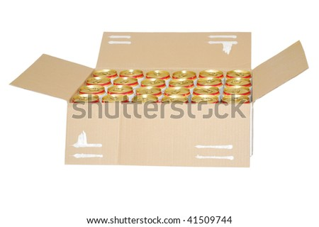 A laser beer box - stock photo