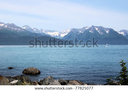 A Late Afternoon View of Resurrection Bay, Seward, Alaska - stock photo