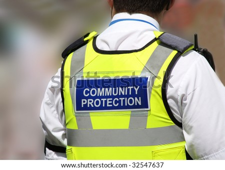 A Law Enforcement Community Protection Officer. - stock photo