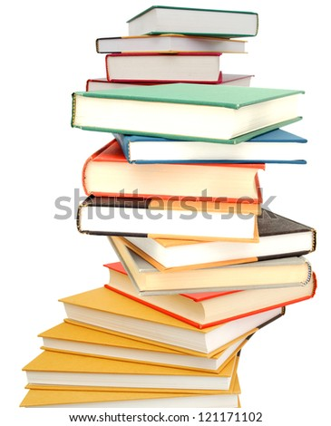 A learning book pile