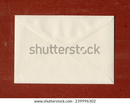 A letter envelope for mail postage shipping - stock photo