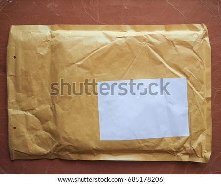 a letter envelope for mail postage shipping