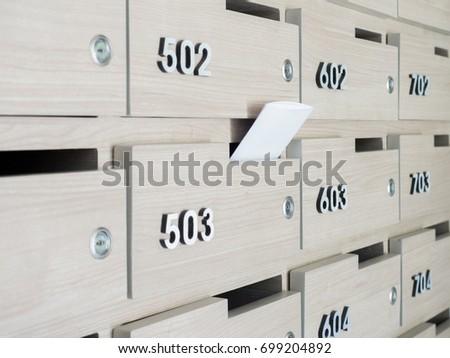 Letter Put Mailbox Entrance Hall Apartment Stock Photo (Edit Now ...