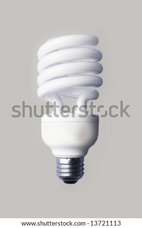 a light bulb on a grey background