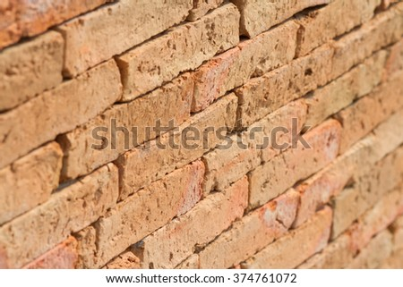 A light orange of brick wall