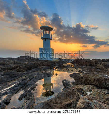 A lighthouse in Khao Lak, Phang Nga, Thailand - stock photo