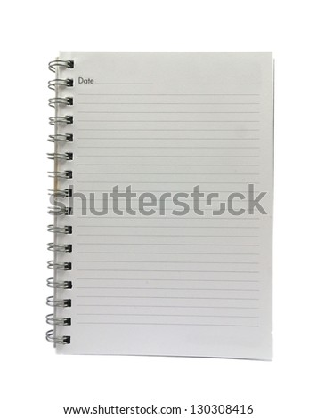 A lined notebook