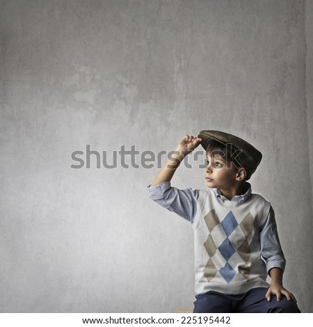 A little boy growing up  - stock photo