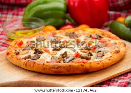 A little cheese pizza, 9 inch - stock photo