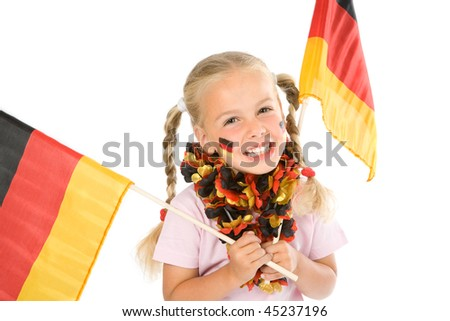 a little girl as fan of the german team