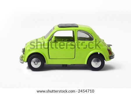a little model of an old italian car - stock photo
