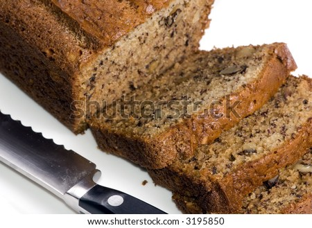 A loaf of fresh banana bread straight from the oven