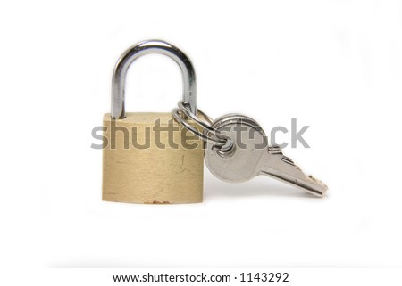 A lock with the keys