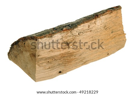 A log of wood isolated on white background - stock photo