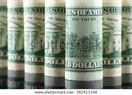 A lot of American dollars - stock photo