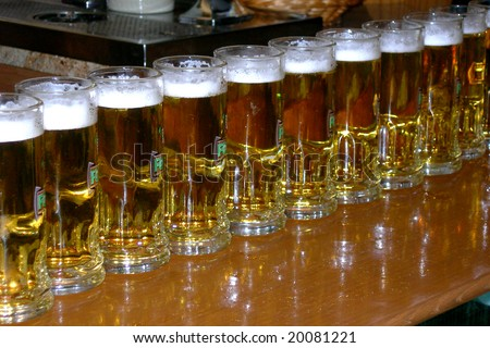 a lot of beer - stock photo