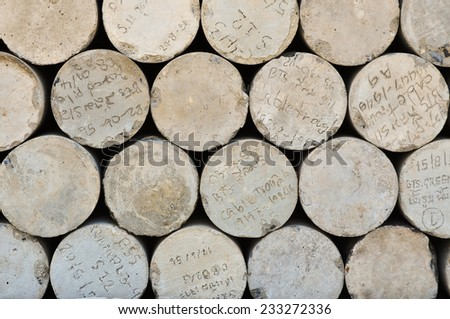 A lot of cement testing block in the construction site  - stock photo