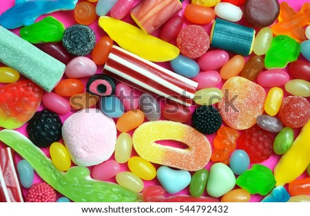 A lot of colorful candy