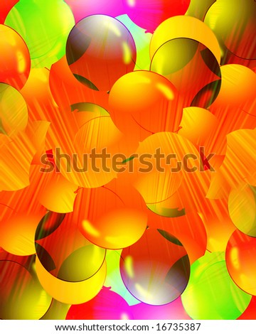A lot of colourful balloons filling the background