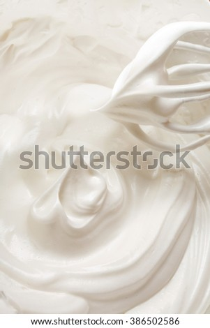 A lot of cream meringue for pastry - stock photo