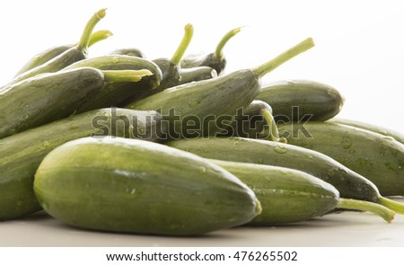 a lot of cucumber